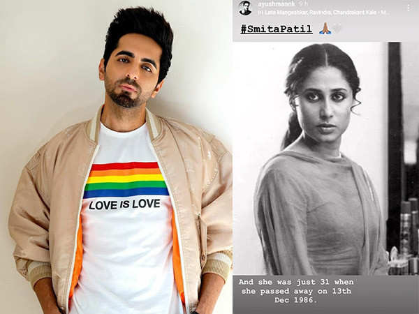 Ayushmann Khurrana remembers the late Smita Patil on her 34th death anniversary