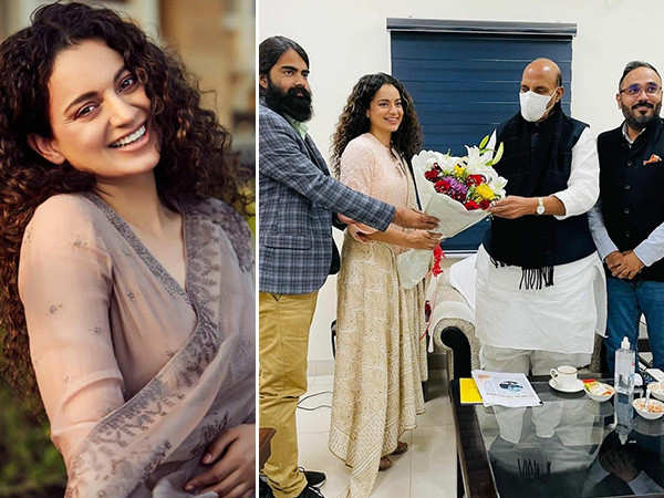 Kangana Ranaut Meets Defence Minister Rajnath Singh And Seeks His Blessings For Tejas