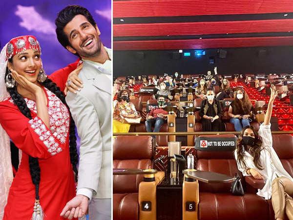 Kiara Advani watches Indoo Ki Jawani with her family in a cinema hall