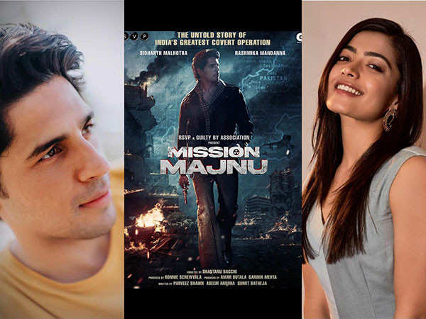 Sidharth Malhotra Announces His New Film With Rashmika Mandanna Titled Mission Majnu