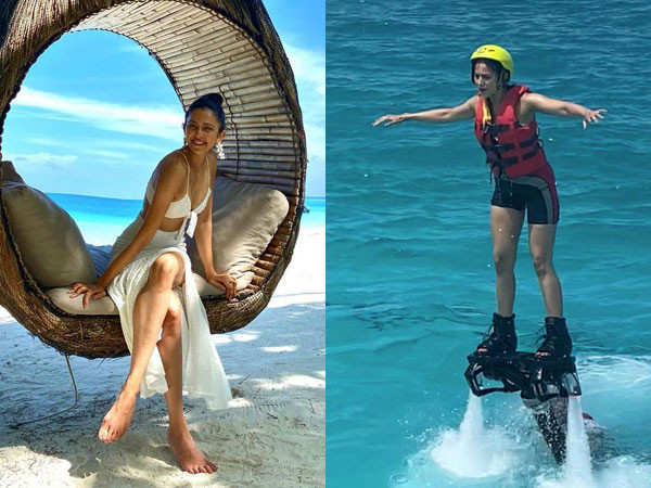Rakul Preet Singh shares her experience of flyboarding in the Maldives