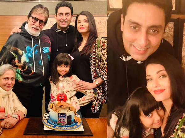 Pictures: Abhishek Bachchan's 44th birthday celebration with family