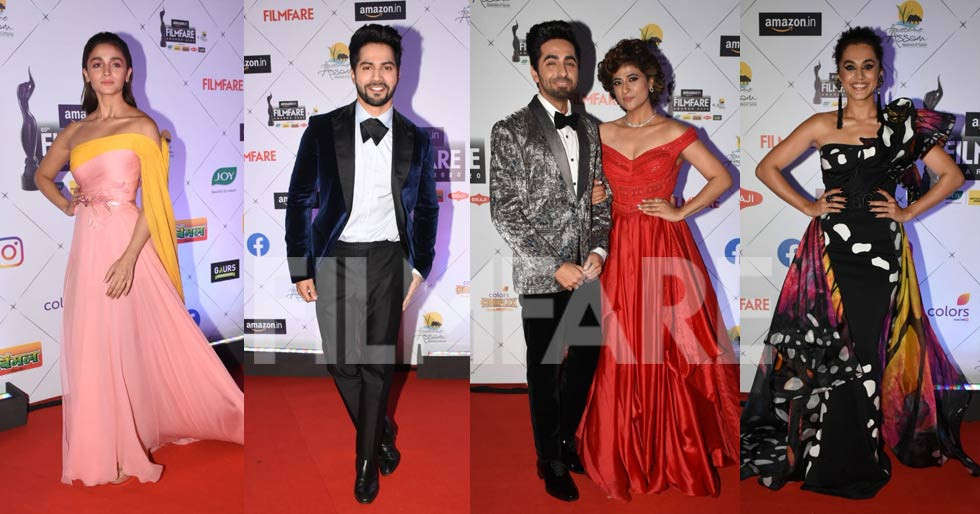 Alia Bhatt, Varun Dhawan, Govinda, Ayushmann Khurrana at the 65th Amazon Filmfare Awards