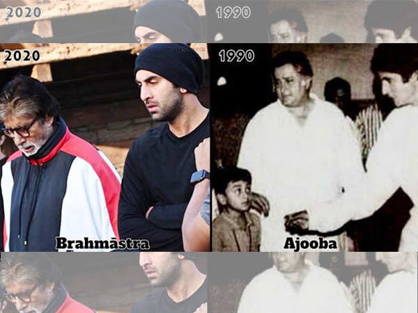Amitabh Bachchan shares pictures with his Brahmastra co-star Ranbir Kapoor