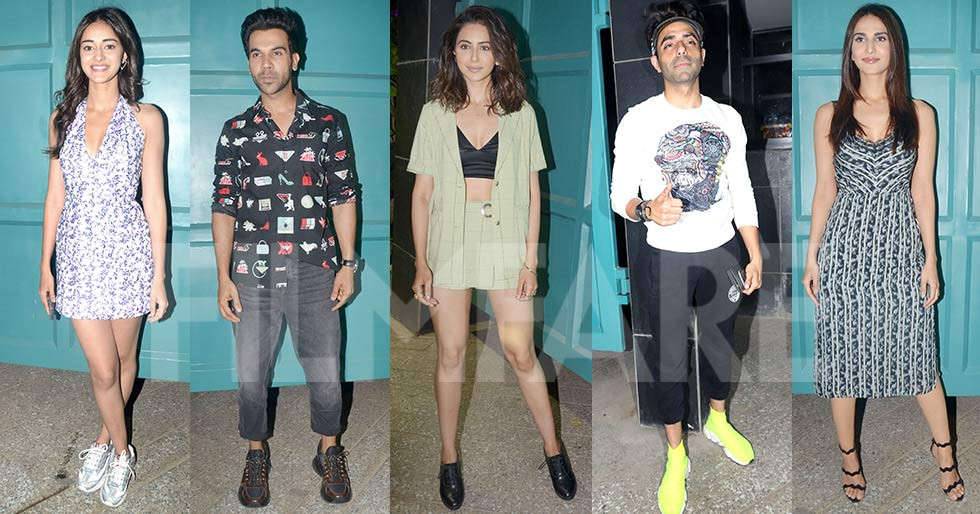 Ananya Panday, Rajkummar Rao, Diana Penty snapped at Dinesh Vijan's party