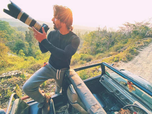 Pictures of Harshvardhan Rane's short wildlife sanctuary trip