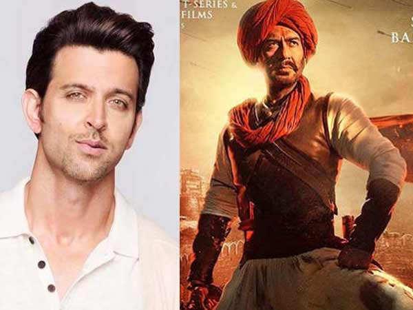 Hrithik Roshan is all praise for Ajay Devgn's Tanhaji The Unsung Warrior