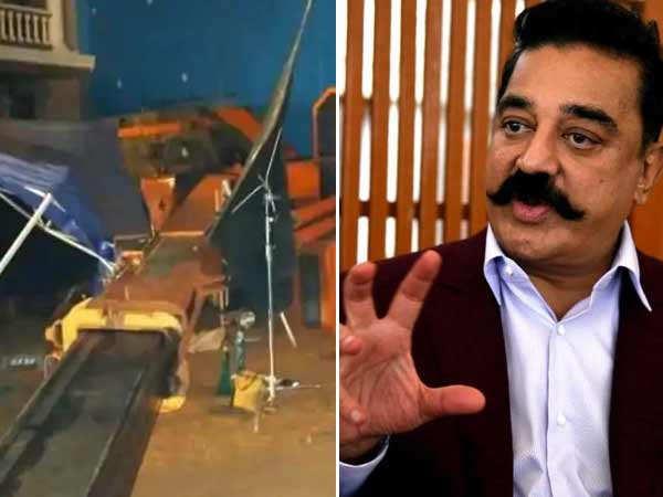 A crane crash kills 3 on the sets of Kamal Haasan's Indian 2