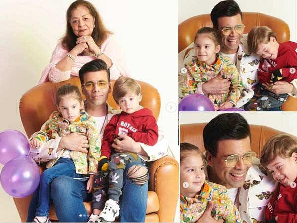 Karan Johar thanks his mother Hiroo Johar for co-parenting his twins