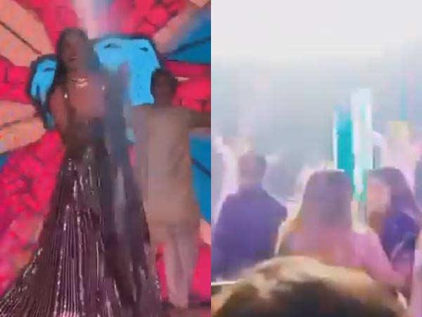 Kiara Advani, Tara Sutaria, Aadar Jain sizzle on stage at Armaan Jain's wedding reception