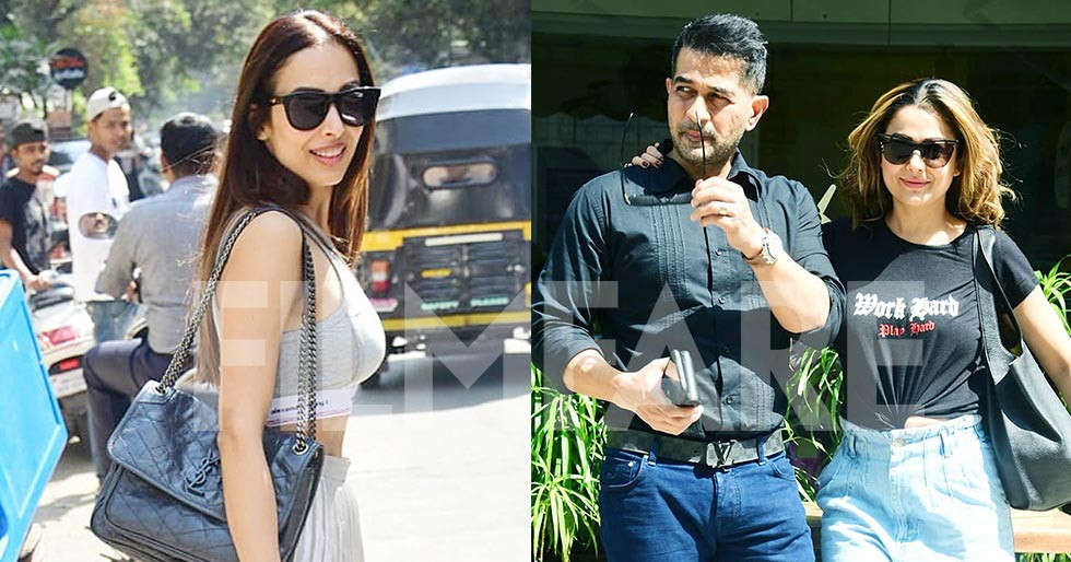 Malaika Arora and Amrita Arora Ladak spotted out and about in the city