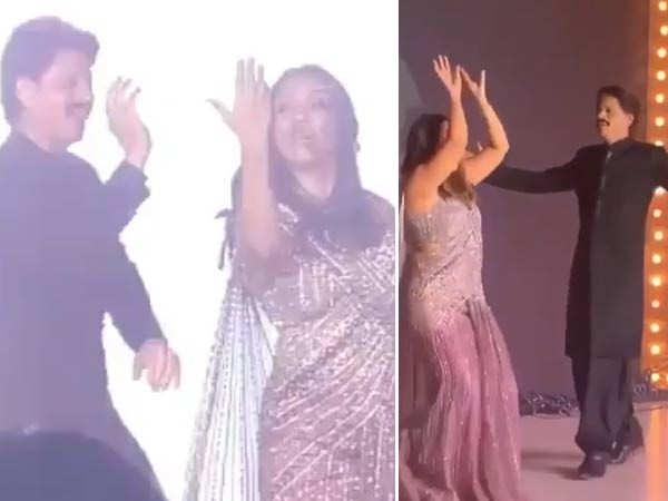 Shah Rukh Khan and Gauri Khan burn the dance floor at Armaan Jain's wedding reception