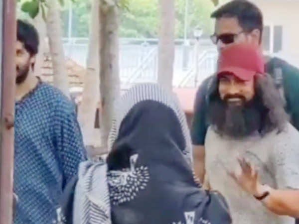 Aamir Khan looks unrecognisable in this video from the sets of Laal Singh Chaddha