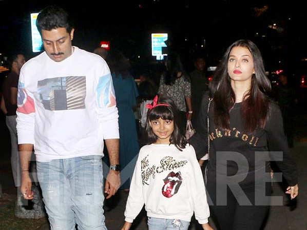 Aishwarya Rai, Aaradhya and Abhishek Bachchan head out for dinner