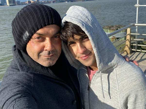 Bobby Deol shares a selfie with son Aryaman Deol