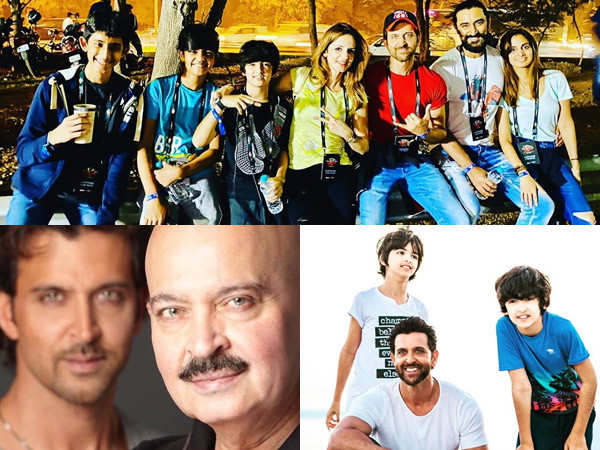 Pictures that prove family comes first for Hrithik Roshan