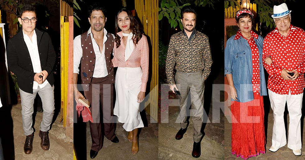 All pictures from Javed Akhtar's Bollywood themed 75th birthday bash