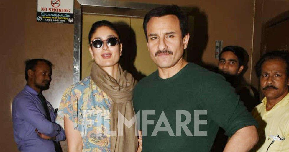 Kareena Kapoor Khan and Saif Ali Khan step out for a movie date