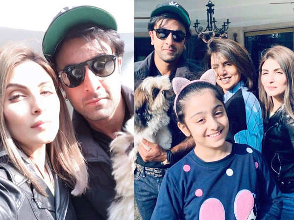 Photos: Ranbir Kapoor spends time with family in Delhi