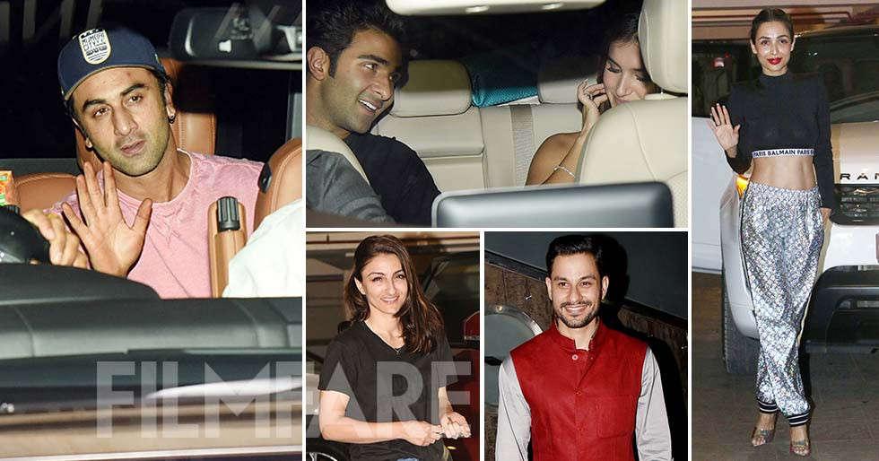 Ranbir Kapoor, Malaika Arora andTara Sutaria party at Kareena Kapoor Khan's residence