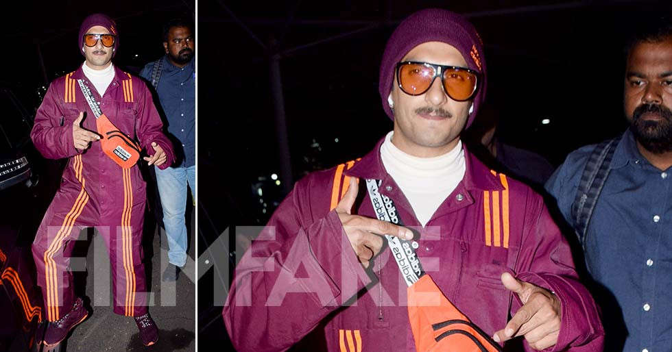 Ranveer Singh turns up in a super cool jumper for his latest airport look