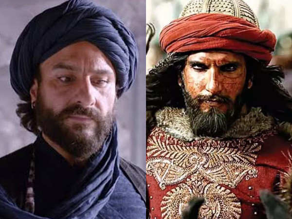 Saif Ali Khan reacts to companions of Uday Bhan with Ranveer Singh's Khilji