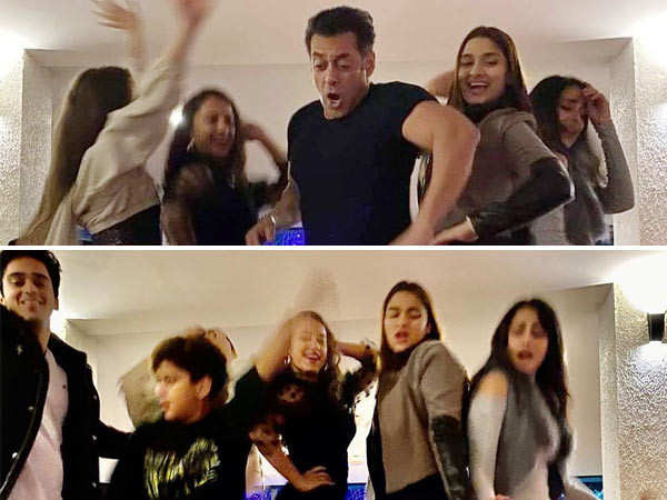 Salman Khan danced his way into 2020 and these pictures are proof
