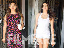 Janhvi Kapoor and Sara Ali Khan hit the gym looking radiant as ever