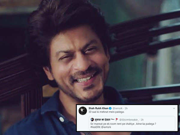 Shah Rukh Khan's best responses from his recent #AskSRK session