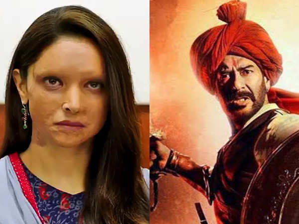 Here's how Chhapaak and Tanhaji: The Unsung Warrior fared on day one at the box-office
