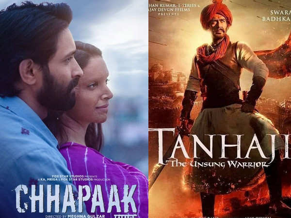 Tanhaji: The Unsung Hero ahead of Chhapaak at the box-office