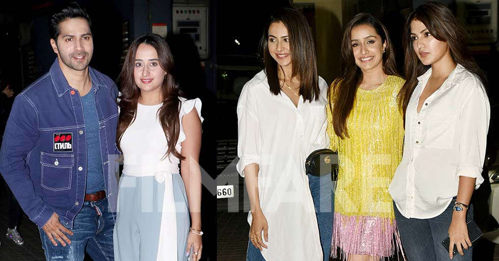 Shraddha Kapoor, Varun Dhawan, Natasha Dalal at Street Dancer 3D's screening
