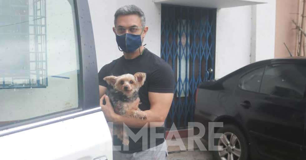 Aamir Khan snapped out and about in the city