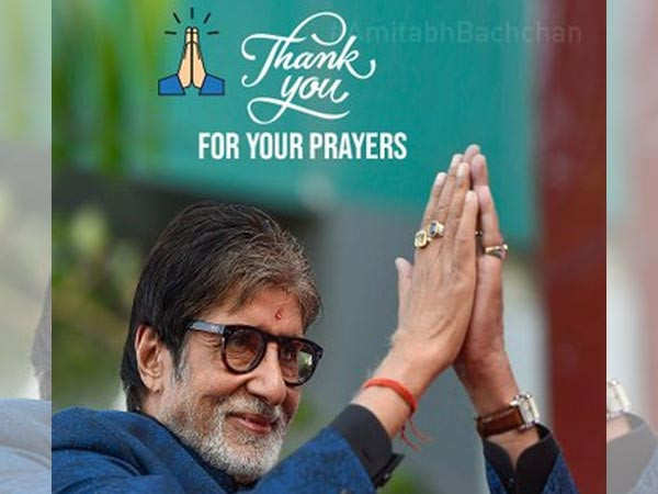Amitabh Bachchan Thanks his Fans for their Prayers with a Special Post