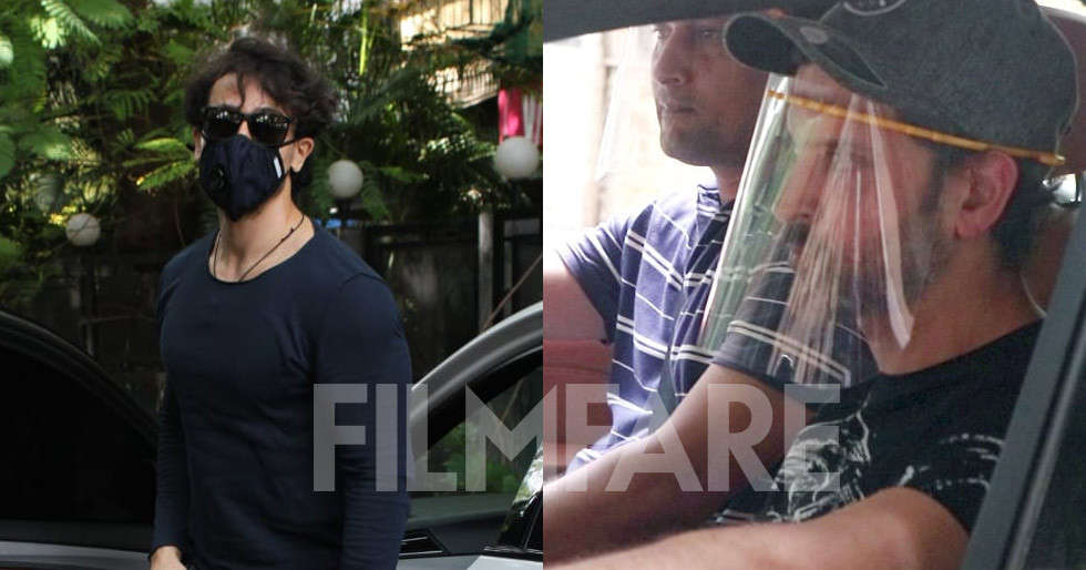 War co-stars Hrithik Roshan and Tiger Shroff snapped in Mumbai