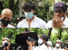 Just in: Pictures from the late Jagdeep's last rites