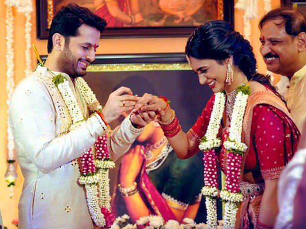 South Actor Nithiin Gets Engaged to Fiancé Shalini days before their lockdown Wedding