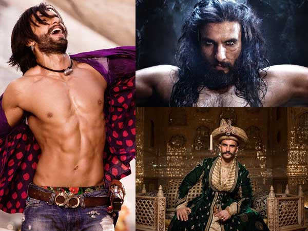 5 Fabulous Character Looks of Ranveer Singh