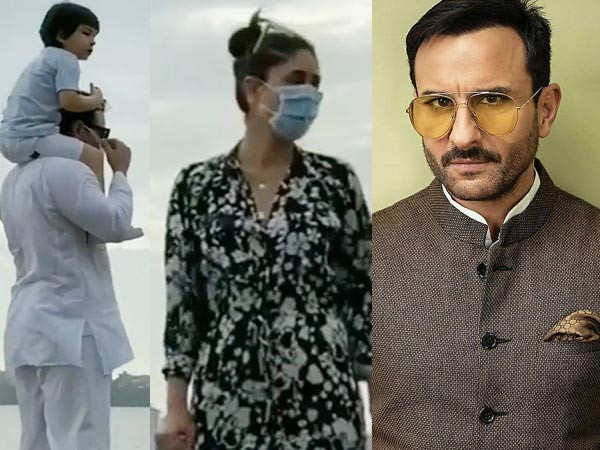 Saif Ali Khan Reacts to Being Trolled for Stepping out with Kareena and Taimur Without Masks