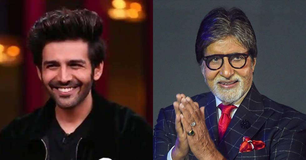 Kartik Aaryan's comment on Amitabh Bachchan's post is truly hilarious