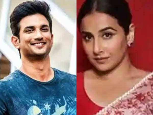 Vidya Balan shares her thoughts on the controversy post-Sushant Singh Rajput's demise