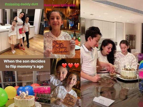 Maanayata Dutt Misses Sanjay Dutt as She Celebrates her Birthday with the Kids
