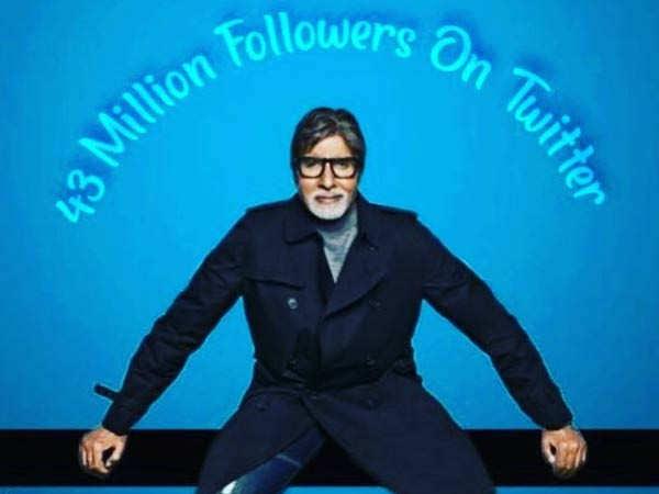 Amitabh Bachchan crosses 43 Million followers on Twitter