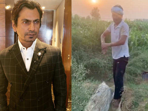Nawazuddin Siddiqui Spends Time as a Farmer in his Hometown