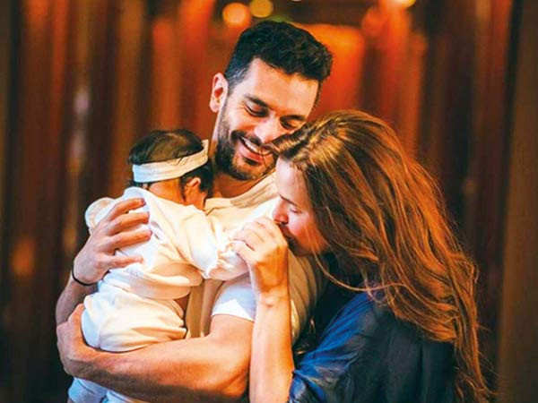 Angad Bedi and Neha Dhupia share adorable pictures of their daughter Mehr