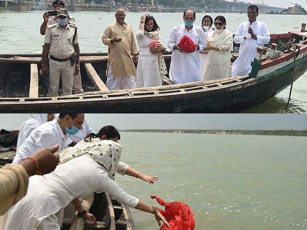 Late Sushant Singh Rajput's Ashes Immersed in the Ganga River
