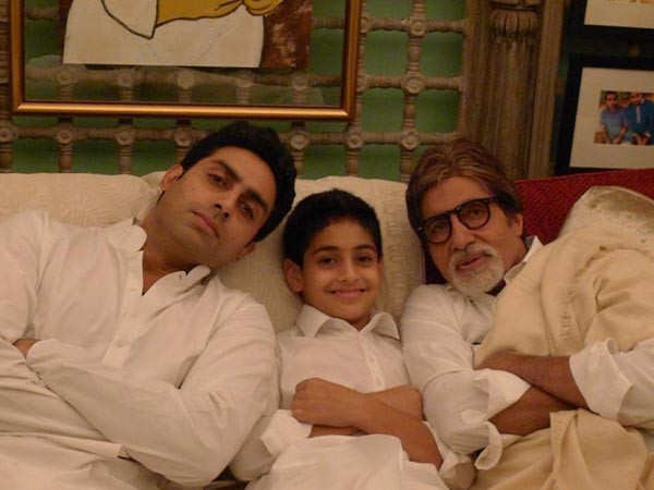 Amitabh Bachchan shares an adorable picture with son Abhishek and grandson Agastya