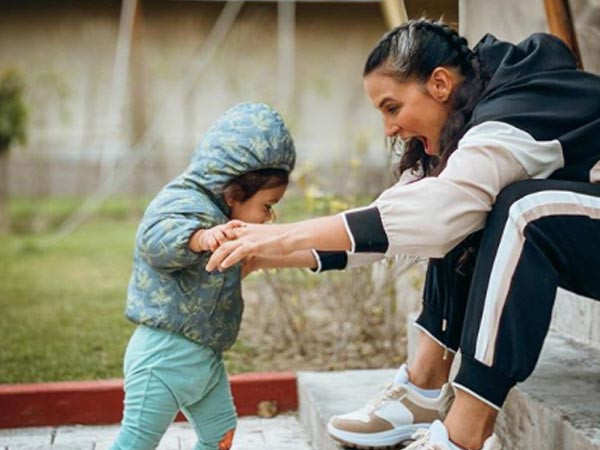 Video: Here's Neha Dhupia's golden advice for her daughter Mehr