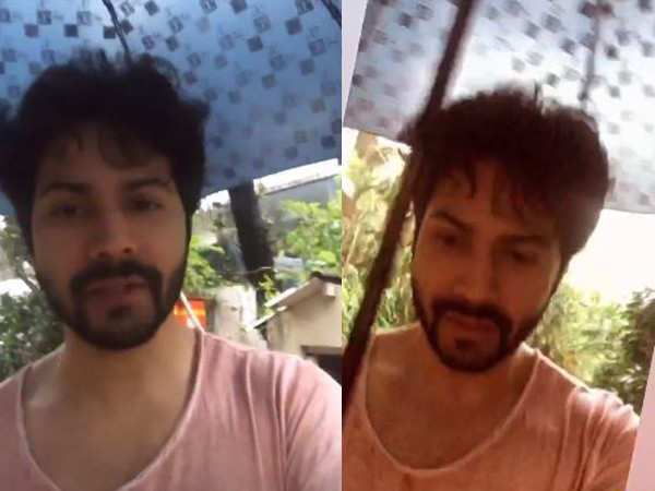 This video of Varun Dhawan predicting the monsoon is super cute
