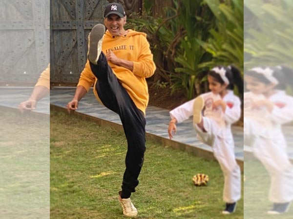 Akshay Kumar latest click with Nitara is too Cute for Words
